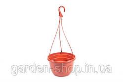 Подвесной горшок для цветов 4,7 л 25х15,2 см (терракота)