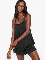 Женская пижама Victoria's Secret майка и шорты с оборками домашняя одежда
