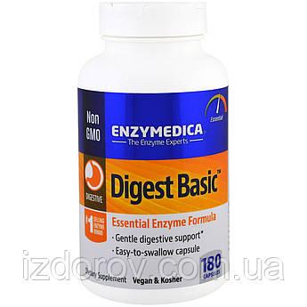 Enzymedica, Digest Basic, ферменты для пищеварения, 180 капсул