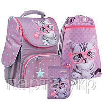 Набор для первого класса Kite рюкзак + пенал + сумка для обуви Studio Pets