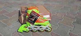 Детские ролики раздвижные со светящимися колесами размер 31-34