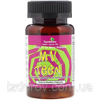 FutureBiotics, M.V. Teen Мультивитамины для Подростков, 90 капсул
