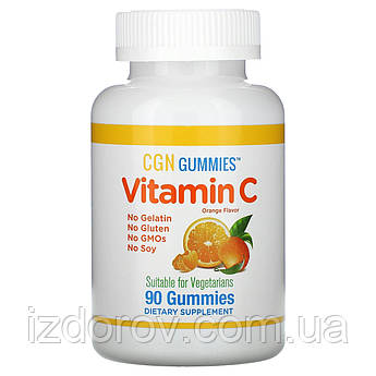 California Gold Nutrition, Витамин C для детей от 4 лет 250 мг, укрепление иммунитета, 90 жевательных таблеток