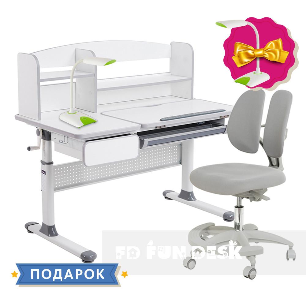 Комплект для школьника парта Cubby Rimu Grey + кресло для дома FunDesk Primo Grey