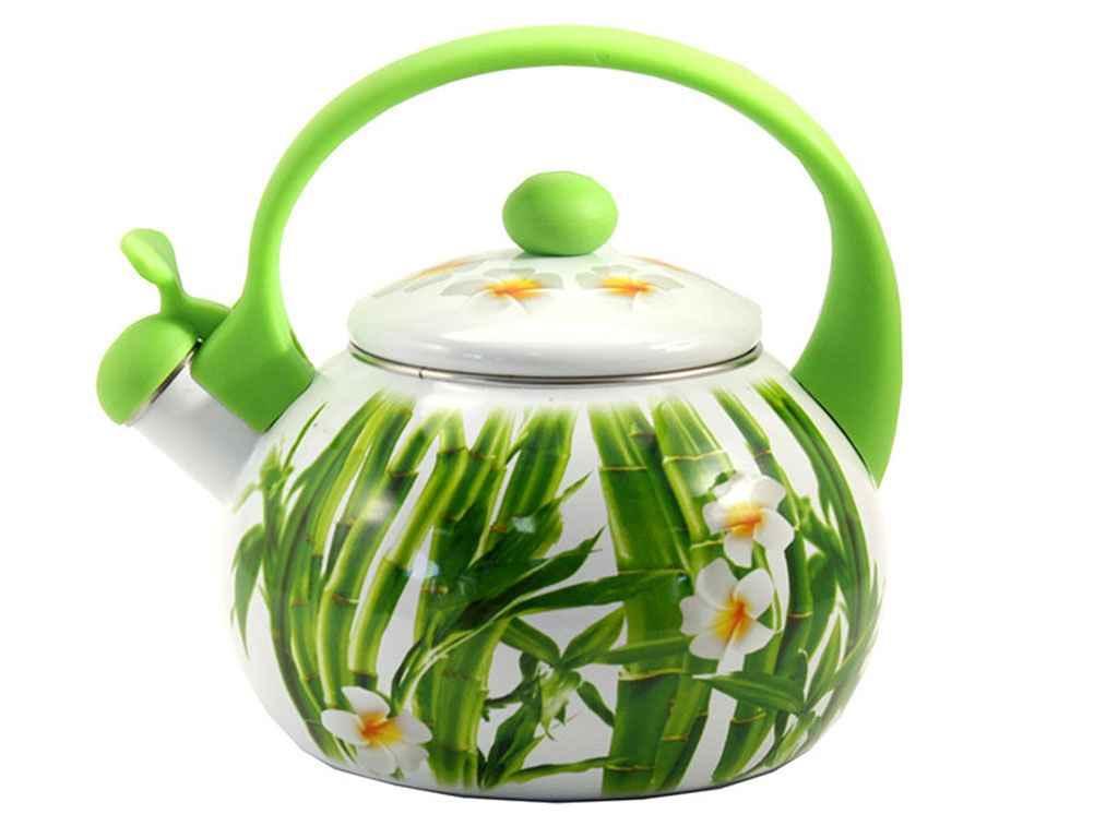 Чайник емальований зі свистком 2,2 л FT7 44/L Бамбук 7323940000 ТМ ZAUBERG