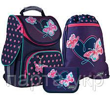 Набор Kite рюкзак + пенал + сумка для обуви Butterflies