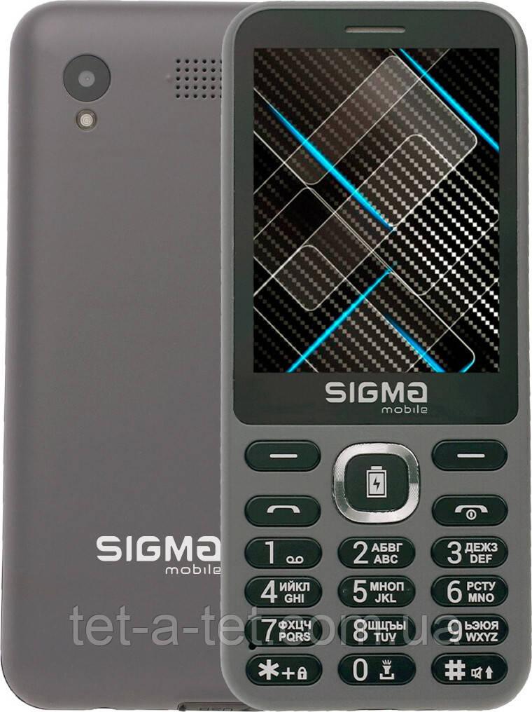 Мобильный телефон с функцией Power Bank, Sigma Mobile X-style 31 Power - Grey (Серый)