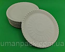 Одноразові тарілки паперові діаметр 250мм (100 шт)