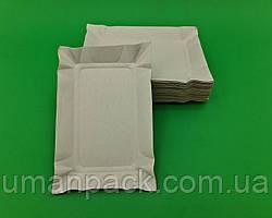 Тарілки одноразові паперові 130х190х0,3 прямокутна щільна (100 шт)