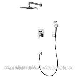 VALTICE комплект для ванны/душа (смеситель с переключ., верхн.душ, ручной душ, шланг, шланг. подсоед)