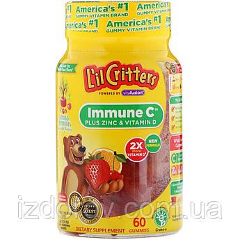 L'il Critters, Immune C плюс Цинк и Витамин D, 60 жевательных таблеток