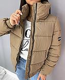 Куртка женская демисезонная. Цвет: чёрный, кофе с молоком, желтый, розовый, голубой, белый, фиолетовый, фото 7
