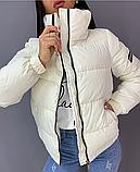Куртка женская демисезонная. Цвет: чёрный, кофе с молоком, желтый, розовый, голубой, белый, фиолетовый, фото 9