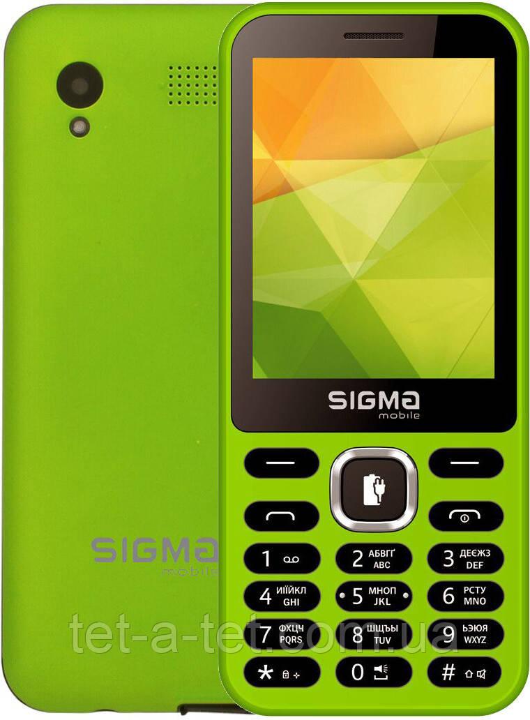 Мобильный телефон с функцией Power Bank, Sigma Mobile X-style 31 Power - Green (Зеленый)