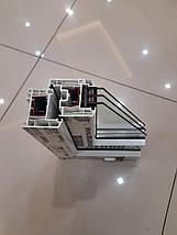 Тристулкові вікна з фрамугою Rehau 60, фото 3