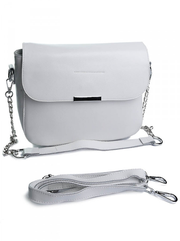 Жіноча сумка шкіряна Case A5060 біла