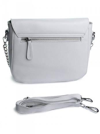 Жіноча сумка шкіряна Case A5060 біла, фото 2