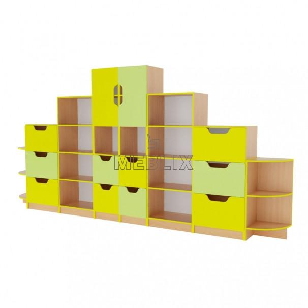 Шкільна стінка для документів та дидактичних матеріалів ➨ ОЛІМП пряма✅