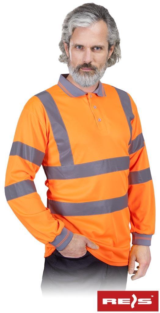 Світовідбиваюча сорочка на довгий рукав POLO-FLUO P