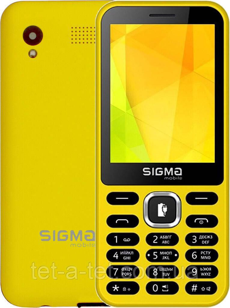 Мобильный телефон  Sigma Mobile X-style 31 Power Yellow