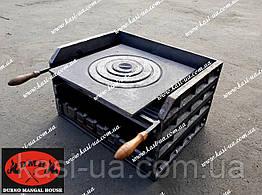Чугунный мангал-гриль без ножек с чугунной плитой DMH500