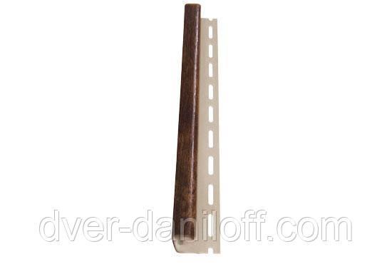 Планка, J-trim, Альта-Профиль, 3,66 м, орех коньячный