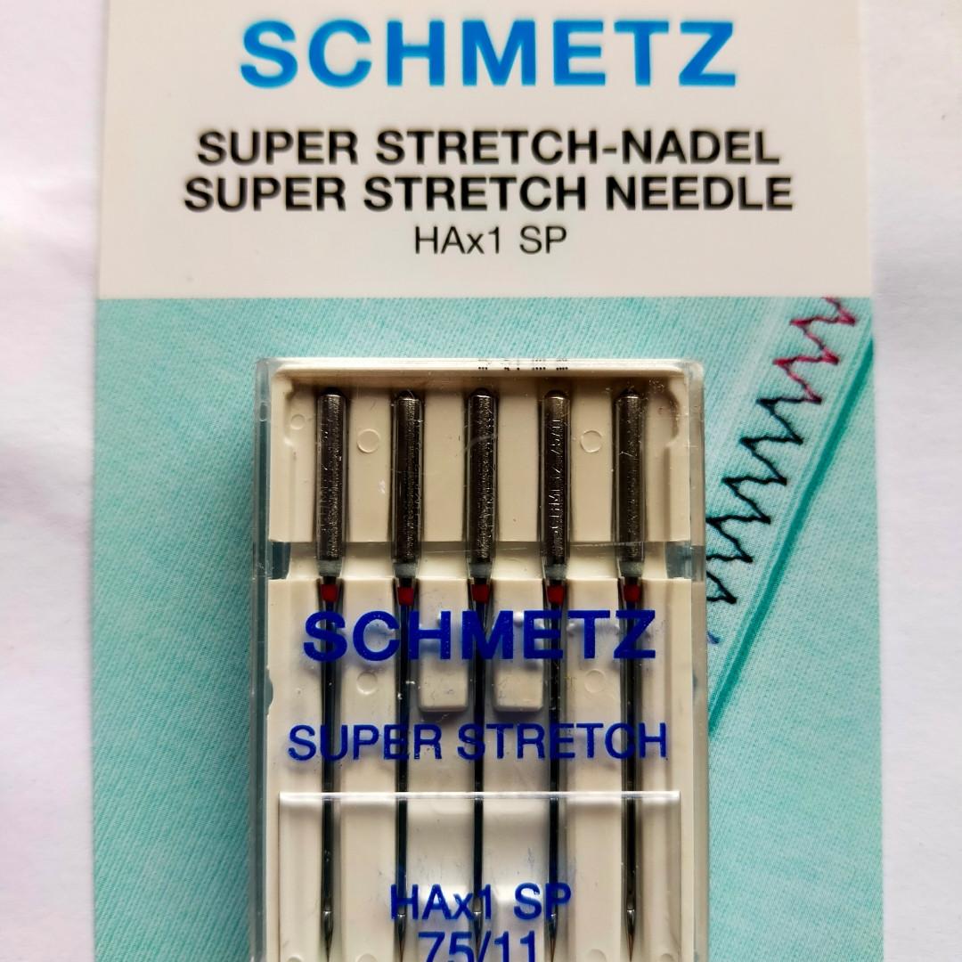 Голки Schmetz SUPER STRECH 75 для побутових швейних машин