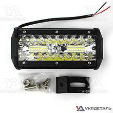 Светодиодная фара LED (ЛЕД) прямоугольная 120W (40 диодов) алюминиевый корпус | VTR