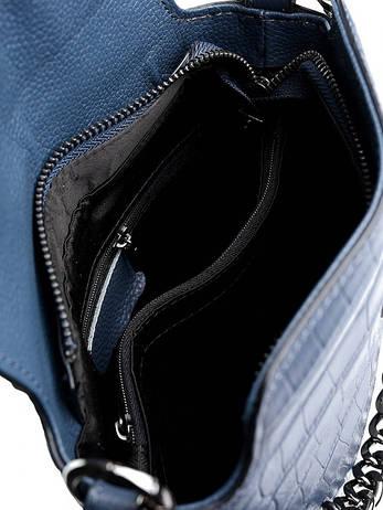 Женская сумка кожаная NO-8661 синяя, фото 2