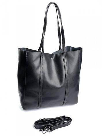Женская сумка кожаная 882 черная, фото 2