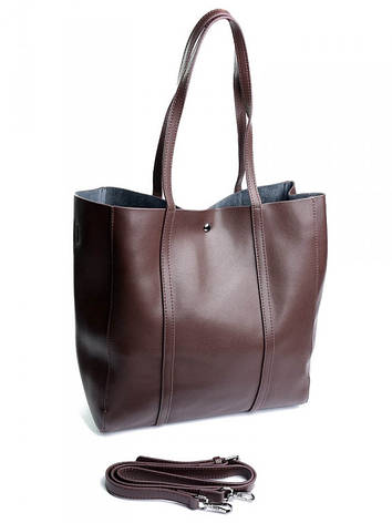 Женская сумка кожаная 882 коричневая, фото 2