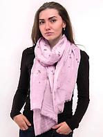 Тонкий шарф Fashion Амелия из вискозы 180*80 см розовый