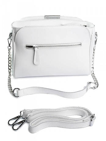 Женская сумка кожаная 3008 белая, фото 2