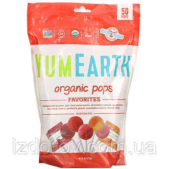 YumEarth, Органические леденцы, любимое ассорти, 50 леденцов, 310 г