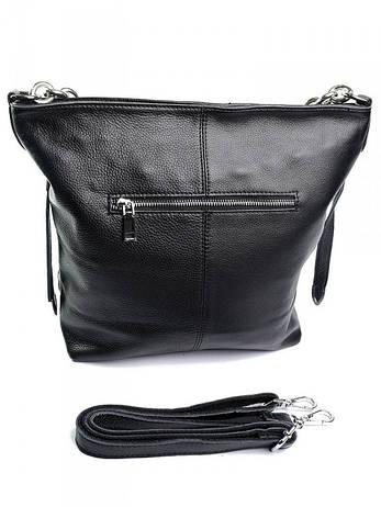Жіноча сумка шкіряна чорна 8798-9, фото 2