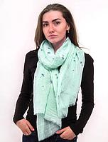 Тонкий шарф Fashion Амелия из вискозы 180*80 см бирюзовый