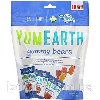 YumEarth, жевательные мишки, ассорти, 10 порционных упаковок, 19,8 г в каждой