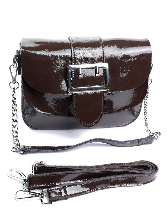 Жіноча сумка шкіряна 8709-3 коричнева