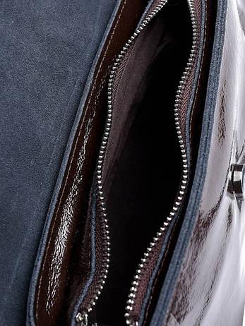 Жіноча сумка шкіряна 8709-3 коричнева, фото 2