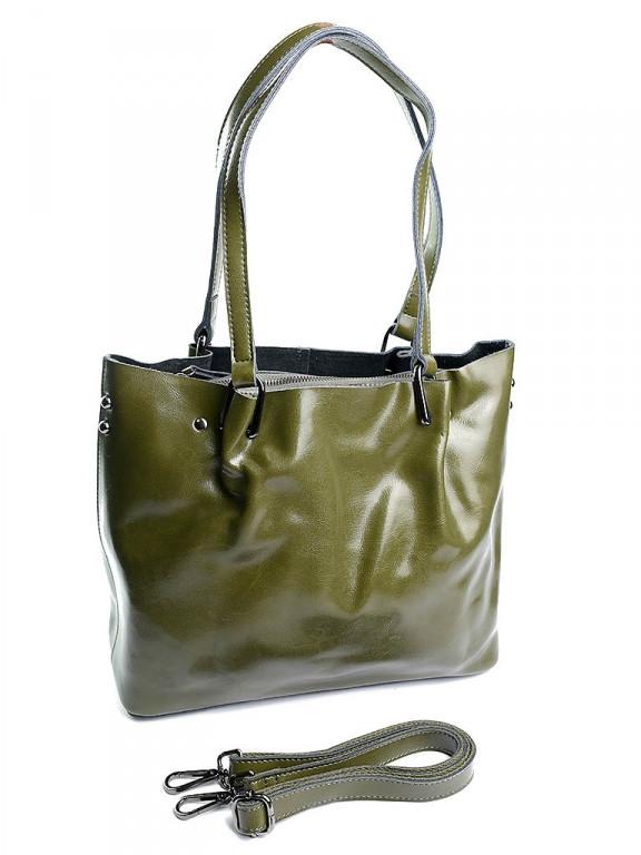 Жіноча сумка шкіряна 8656 Grass зелена