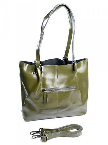 Жіноча сумка шкіряна 8656 Grass зелена, фото 2