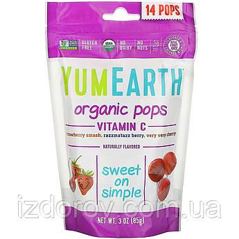 YumEarth, Органические леденцы с витамином C, 14 леденцов, 85 г