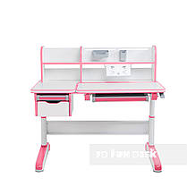 Комплект для девочки стол-трансформер Libro Pink + эргономичное кресло FunDesk Pratico Pink, фото 2