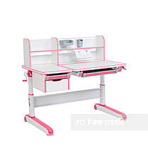 Комплект для девочки стол-трансформер Libro Pink + эргономичное кресло FunDesk Pratico Pink, фото 3