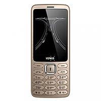 """Кнопочный телефон с большим дисплеем, хорошей батареей и камерой на 2 сим Verico C285 Gold 2.8"""" micro max"""