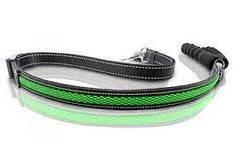 LED-повідець регульований AnimAll для собак (з підзарядкою USB) 2.5/120-150см зелений