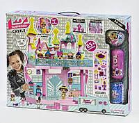 Детский большой кукольный домик ЛОЛ, двухэтажный замок со световыми и звуковыми эффектами, 3 куклы
