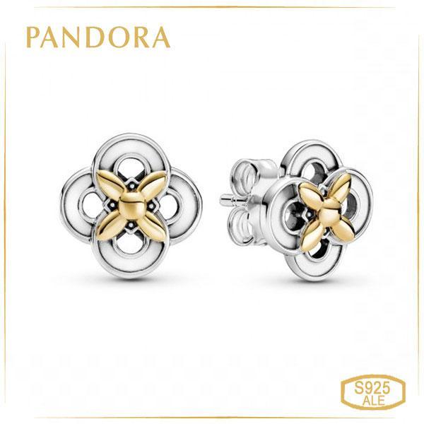 Пандора Серьги-гвоздики Цветок с Позолотой Pandora 299349C00