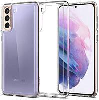 Чехол Spigen для Sasung Galaxy S21 - Ultra Hybrid, Crystal Clear (ACS02423)