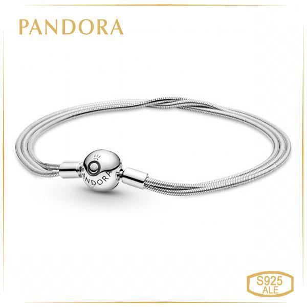 Пандора Браслет тройной для серий Moments и Reflex универсальный (17 см) Pandora 599338C00